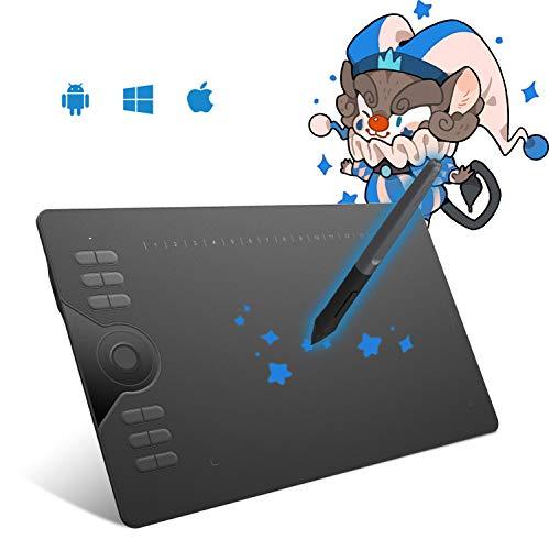 HUION la Tableta gráfica HS610, con la función de inclinación y presión de la Pluma Stylus 8192 sin batería