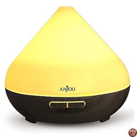 【本日最終日】Anjou 超音波加湿器 300ml 7色ライト 664円!2000円以上 or プライム会員は送料無料!【しずく、タジン鍋型】
