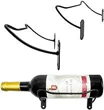 VEEBOOD Wall Mounted Decorative Metal Wine Rack Hanging Wine Bottle/Hand Towel Wall Holder (Black, Set of 3)