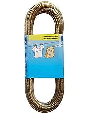 takestop® Juego de 2Piezas Cuerda Tendedero 10Metros 3diámetro Ropa Paños Acero plastificado Cable Cable