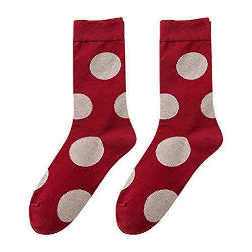 Huacat Herren Damen Socken Strumpf Wellenpunkt Socken aus Baumwolle Bunte Strümpfe Jugendliche Farbige Anzugsocken Damen Mädchen