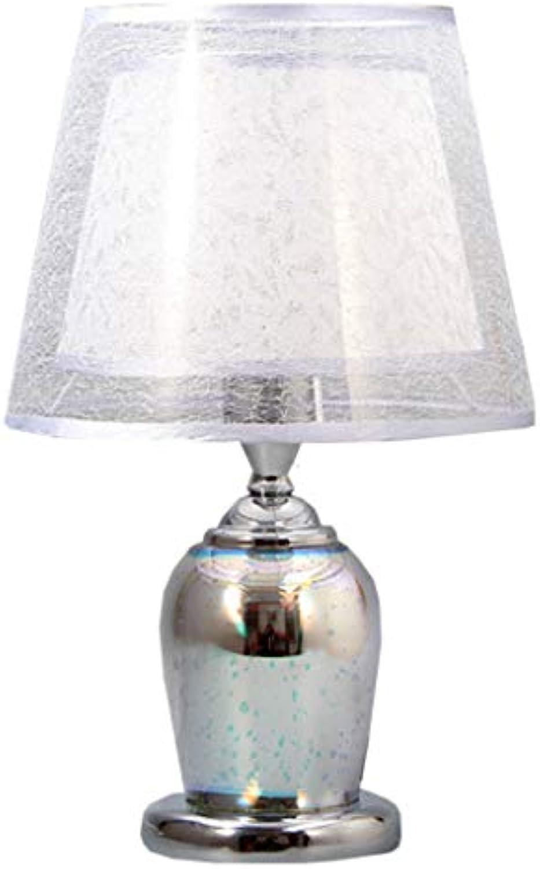 Kreative Mode 3D Kristall Lampe, Moderne Einfache Arbeitszimmer Wohnzimmer Schlafzimmer Hochzeitsgeschenk Tischlampe E27 (Farbe   Silber)