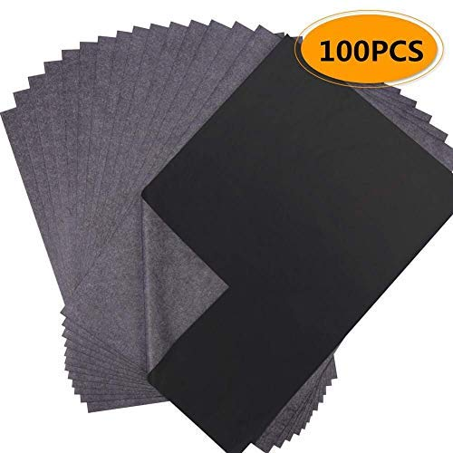 Magiin 100 Blätter Carbon Transferpapier Kohlepapier Kopierpapiere Blatt Kohlepapier Schwarz DIN A4 Pauspapier Durchschreibepapier