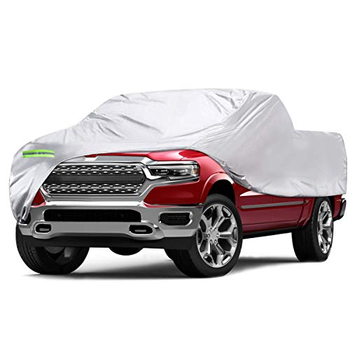 ELUTO Truck Car Cover Waterproof All Weather Full Car Covers Indoor Outdoor Car Cover for Truck Pickup Covers Windproof UV Protection Universal Car Covers Fits up to 240''(240''L x 60''W x 60''H)