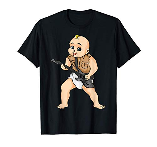 Cute Rock And Roll Guitar Gift Kids Boys Girls Cool Musician T-Shirt