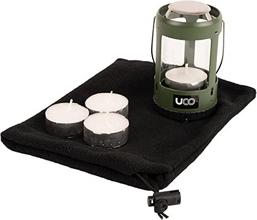 UCO Mini Candle Lantern Kit 2.0 Kerzenlaternen-Set, Grüne Pulverbeschichtung, Einheitsgröße