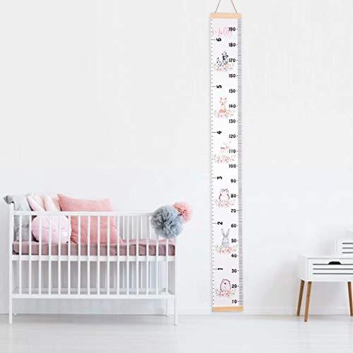 HANBIN diagramme de croissance de taille mobile de toile pour des enfants Tableau de croissance de bébé règle décoration de mur style 2