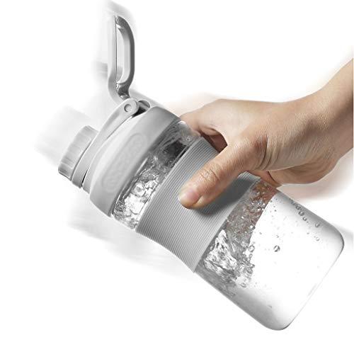 Xiaodou Sport vattenflaskor skaka kopp måltidsersättning skaka kopp gym protein pulver liten och bärbar sommar anti-fall sportkopp, utomhus vattenkokare dricksvattenflaska för utomhus (storlek: 800 ml)