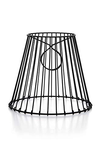 Cleveland - Pantalla de metal con clip, color negro, 20,3 x 17,8 x 11,4 cm, ideal para crear una luz de tarro Mason