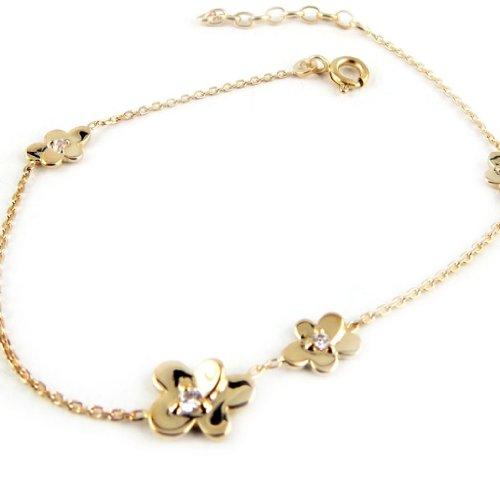 Silver bracelet 'Fleur Lumière' golden.