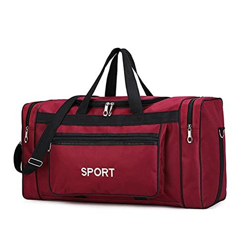 WENYOG Borsa Sportiva Big Capace Gym Borse Sport Fitness Gadget Yoga Gym Sack Gym Pack per Formazione Borsone da Viaggio Borsa da Ginnastica (Color : Red)