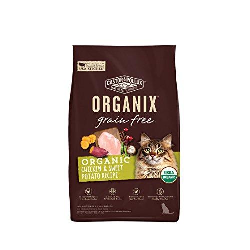 Castor & Pollux 52054 Organix Grain Free Chicken & Sweet Potato Recipe Dry Cat Food, 10 Lb