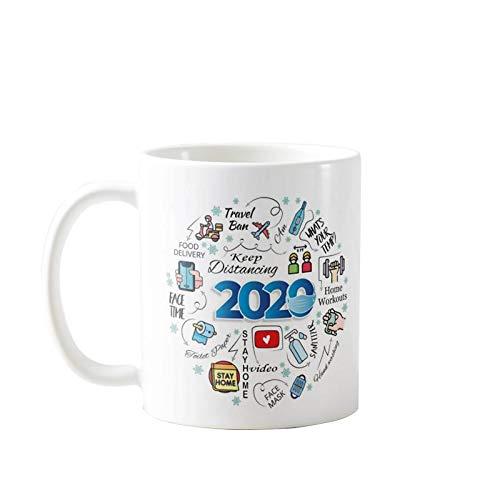 Taza conmemorativa de 2020 con adornos conmemorativos de la historia de la revisión de la historia, taza de regalo, taza de regalo para la familia de recuerdo decoración