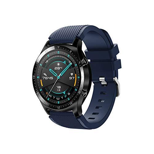 Romacci Substituição de pulseira de pulseira de pulseira de silicone 22mm com superfície de faixa de fivela para HUAWEI WATCH GT 2 46mm / HONOR MagicWatch 2 46mm