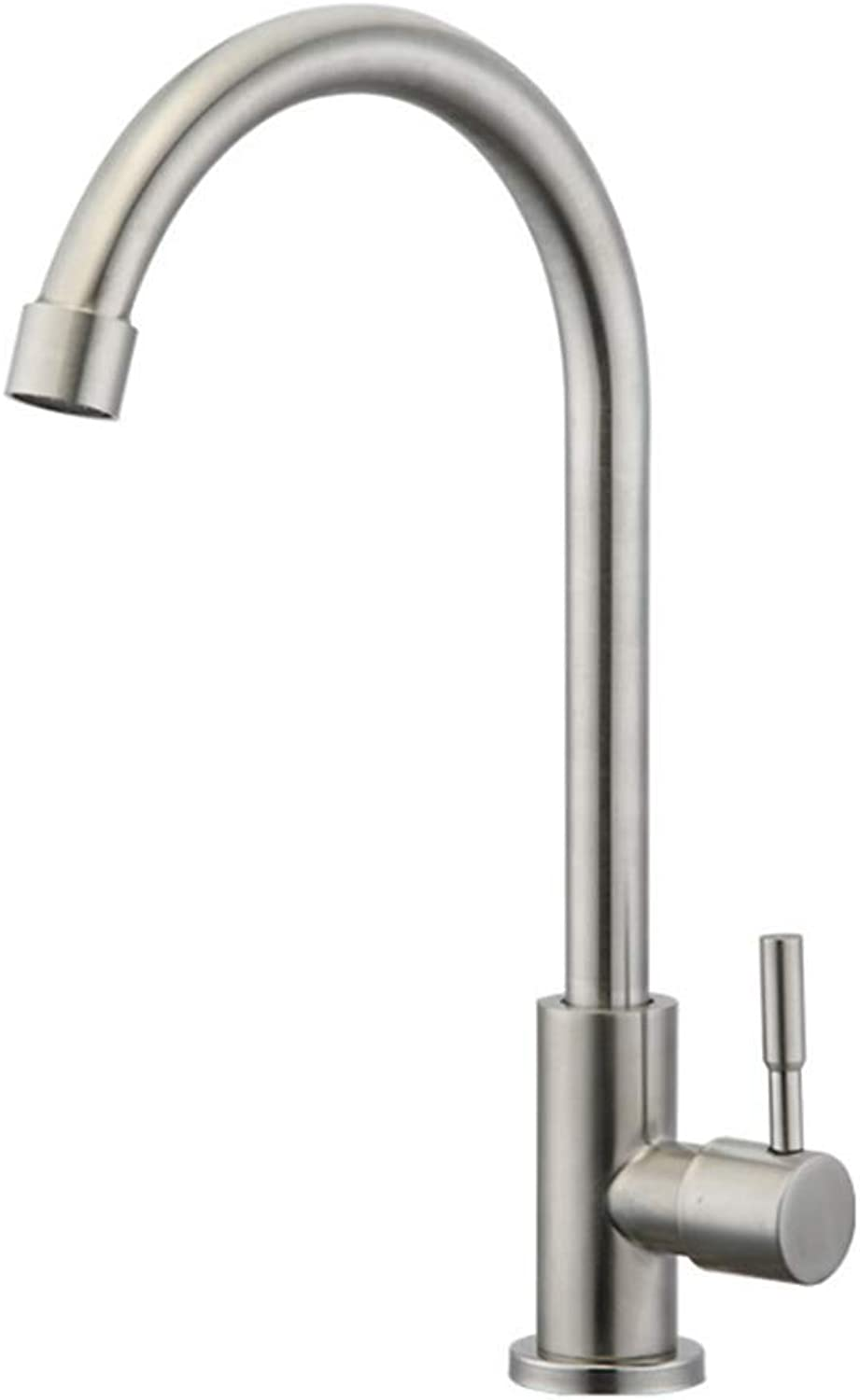 Kitchen Taps Faucet Modern Kitchen Sink Taps Stainless Steel304 Stainless Steel Cold and Hot Basin Faucet Washbasin Faucet Washbasin Faucet Washbasin Table Basin Single Hole Faucet