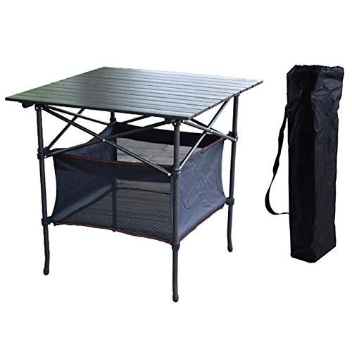 WYYH Campingtisch Klappbar Leicht, Aluminiumlegierung Camping Klapptisch Marmorfarbe Kratzfest Klapptisch Tisch Klappbar Verwendet Für Picknick Camping Strandgrill Mit Aufbewahrungstasche