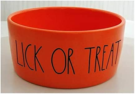 Rae Dunn Artisan Genuine Collection 6 in Halloween Treat O Solid Lick or Wholesale