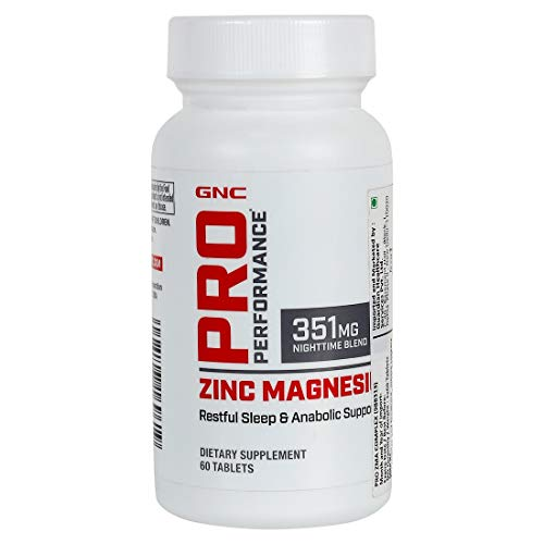 GNC Pro Performance Zinc Magnesium, 60 Tablets, Supports Restful Sleep and Anabolic Support
