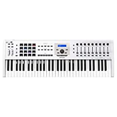 61-note MIDI Controller Keyboard with Aftertouch 5 Expression Control Inputs - White 16 RGB Backlit Perfmance Pads 9 Rotary Encoders 9 Large Faders
