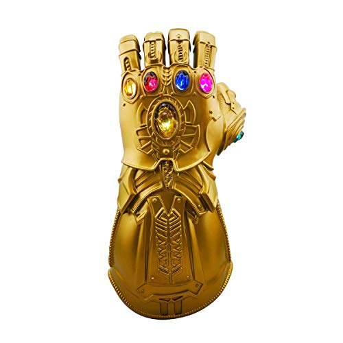 Infinity Guantlet Glove, Infinity War props with LED Flash Light Thanos Costume