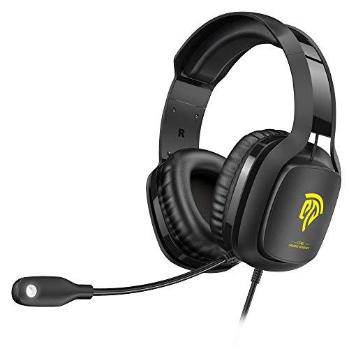 REDSTORM [2020 Pro Auriculares Gaming Luces para PS4 & Xbox One S/X Controller, PC, Laptop, Nintendo Switch, Tablet y Móvil, Cascos Gaming con Cancelación de Ruido y micrófonos
