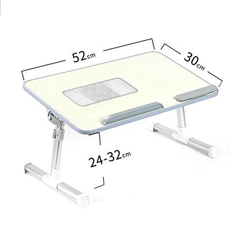 LYQZ Portable Portable Bed Desk, Pliable Notebook Reading Dorm Student Multifonction Réglable Petit Petit Plateau (Couleur : Gray)