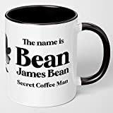 James Bond Funny Coffee Mugs For Men. Anniversary Birthday Gifts For Men. The Name is Bean, James Bean, Secret Coffee Man. Movie Memorabilia Gifts For Him, Husband Boyfriend, Grandpa, Dad, Son, Uncle