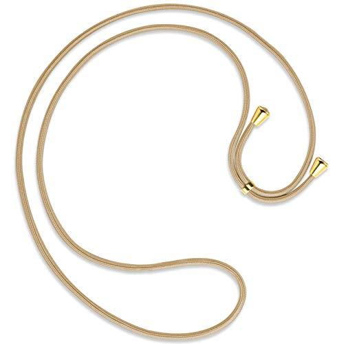 mtb more energy - Correa de repuesto para cadena de teléfono móvil - Caramel - Incluye tapas (dorado) - Cordón de repuesto de alta calidad - cuerda de cuerda