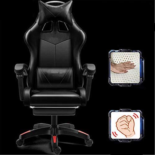 Zhicaikeji Sillas Gaming Silla de computadora Silla de Oficina para el hogar Gaming E-Sports Silla Ergonómica Recumbente Racing Silla para Casa (Color : Black, Size : One Size)