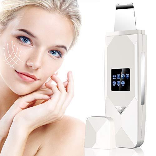 Ultraschallpeelinggerät Aoyool Skin Scrubber Ultraschall Peeling Porenreiniger Mitesserentferner Haut Scrubber Akne-Entferner Mitesser Entferner Ionen Hautreiniger