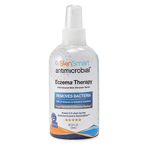SkinSmart Eczema Therapy, Hypochlorous Antimicrobial Safely Removes Bacteria so Skin Can Heal, 8 Ounce Clear Spray and Safe for Babies, Kids, Adults and Seniors