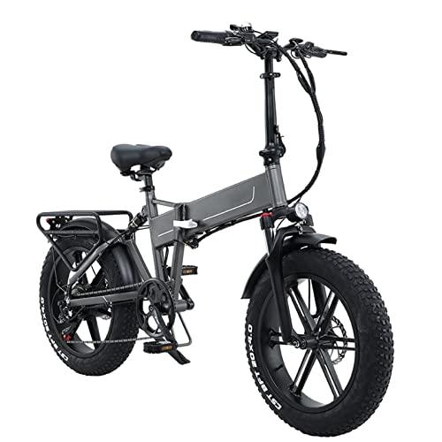 HMEI Bicicleta eléctrica Plegable de 20'800w 48v 12.8ah Bicicleta eléctrica 4.0 Neumático Gordo Bicicleta eléctrica Bicicletas Plegables para Adultos (Color : MG Two-Batteries)
