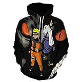 Naruto - Sudadera con capucha y estampado en 3D, estilo japonés, manga larga, hip hop, anime Harajuku