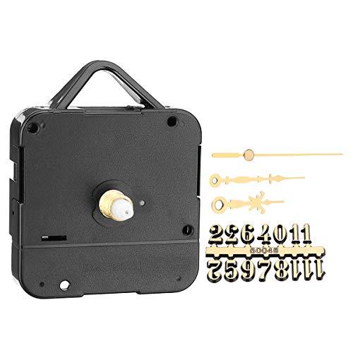 KUNSE 17Mm Silent Quartz klok kit met gouden digitale kaart uur minuten secondewijzer