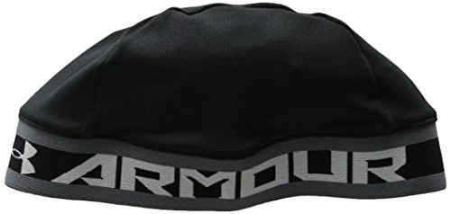 Under Armour Boys' Basic Skull Cap , Black (001)/White , One Size Fits All