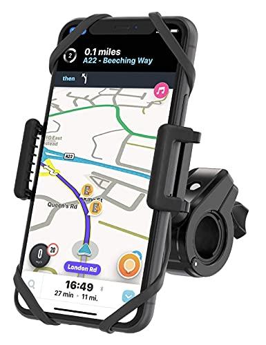 Soporte para teléfono de bicicleta irrompible, soporte para teléfono de moto, soporte para teléfono para bicicleta, manillar universal y teléfono, unidad GPS para ciclismo