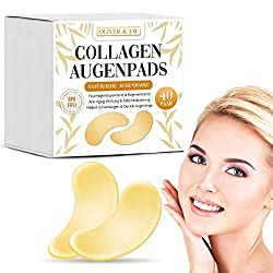 Eye Pads for Dark Circles & Wrinkles with Collagen I 40 Pair of Eye Mask Pads I 100% Natural by Oliver & Jay