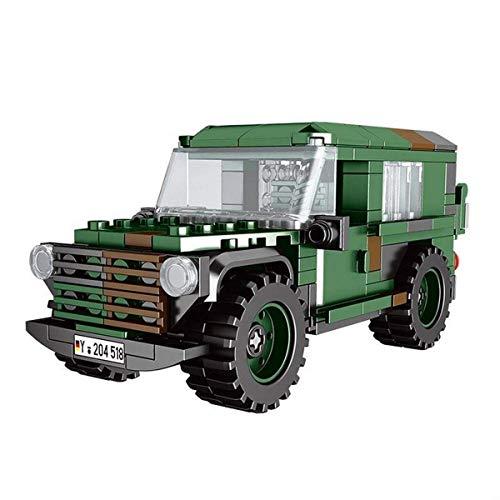 BlueBrixx 06041 Marke Xingbao – Geländewagen Wolf, Bundeswehr aus Klemmbausteinen mit 192 Bauelementen. Kompatibel mit Lego. Lieferung in Originalverpackung.