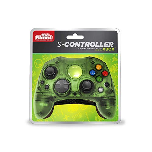 Old Skool Xbox Controller S-Type Wired Game Pad - Green