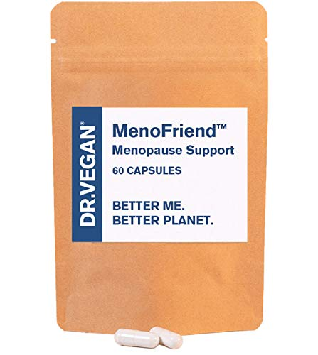 DR.VEGAN MenoFriend   Menopause Support, Eases Common Symptoms   60 Capsules   Two-A-Day   Botanicals, Vitamins & Minerals Including Wild Yam 500mg, Dandelion Root 200mg, Mung Bean 130mg