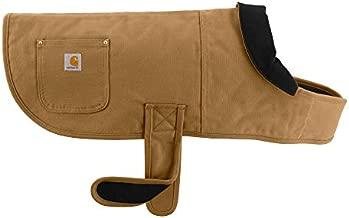 Carhartt Chore Coat, Dog Vest, Water Repellent Cotton Duck Canvas,Carhartt Brown,Large