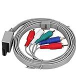 Exliy Cable AV de 180 cm, Cable componente del Sistema de Consola de Videojuegos, Cable AV de Audio y vídeo componente de Repuesto, Cubierta de PVC Flexible y Gruesa