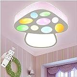 MCLJR Lámpara para Habitación De Niños Lámparas De Techo LED Modernas Diseño De Hongo Colorido Regulable con Control Remoto Lámparas De Techo para Dormitorio 24W Adecuado Iluminación De Guardería
