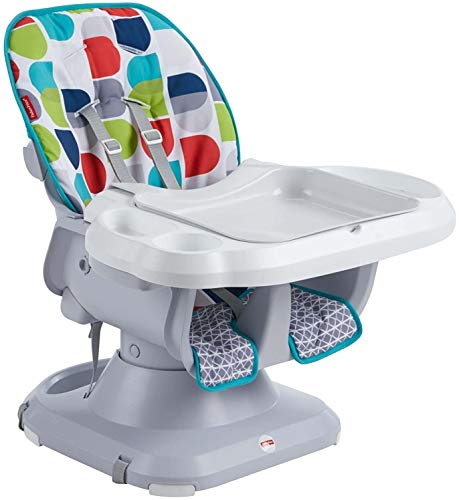 Fisher-Price SpaceSaver High Chair, Blue/Green