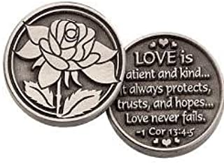 THREE (3) LOVE is PATIENT -Pewter POCKET Tokens - PAUL Corinthians 13:4-8- 1