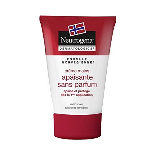Neutrogena Formule Norvégienne Crème Mains Apaisante Sans Parfum Mains Très Sèches et Sensibles 50ml (lot de 3)