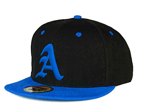 Casquette de Baseball Snapback Bonnet Cap Chapeau Snap Back 3D Gothique A Hip-Hop (A Blue Blue)
