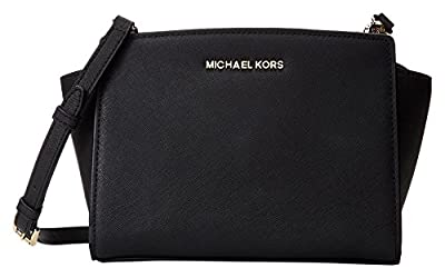 MICHAEL Michael Kors Women's Selma Medium Messenger Bag, Black, One Size