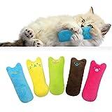 Tocyoric hierba gatera juguete, 5pcs juguetes del catnip interactivos, palitos de catnip, adecuado juguete para gatos de interior