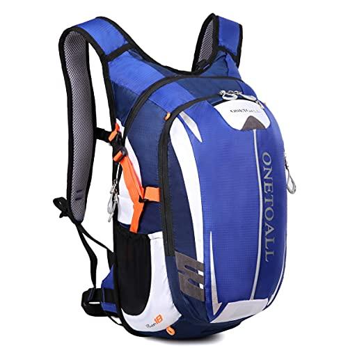 LOCAL LION Fahrradrucksack Trinkrucksack Reiserucksack Sportrucksack Tagesrucksack Alltags Daypacks Backpack Outdoor Ultraleicht Unisex 18L blau